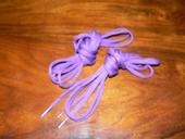 Tkaničky do bot fialové,