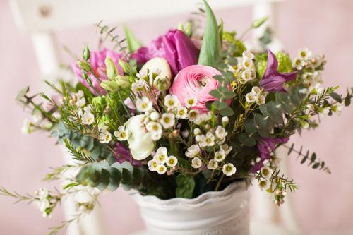 Jarne a letne aranzmany a dekoracie - Aranzman pouzity na dekoraciu chodby - domaca vyroba