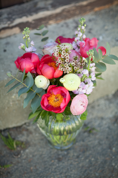 Jarne a letne aranzmany a dekoracie - jedna pivoniova