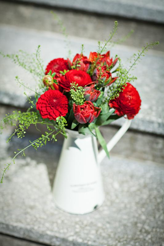 Jarne a letne aranzmany a dekoracie - Nieco do cervena...