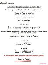 Jako matematička ... nesmí chybět