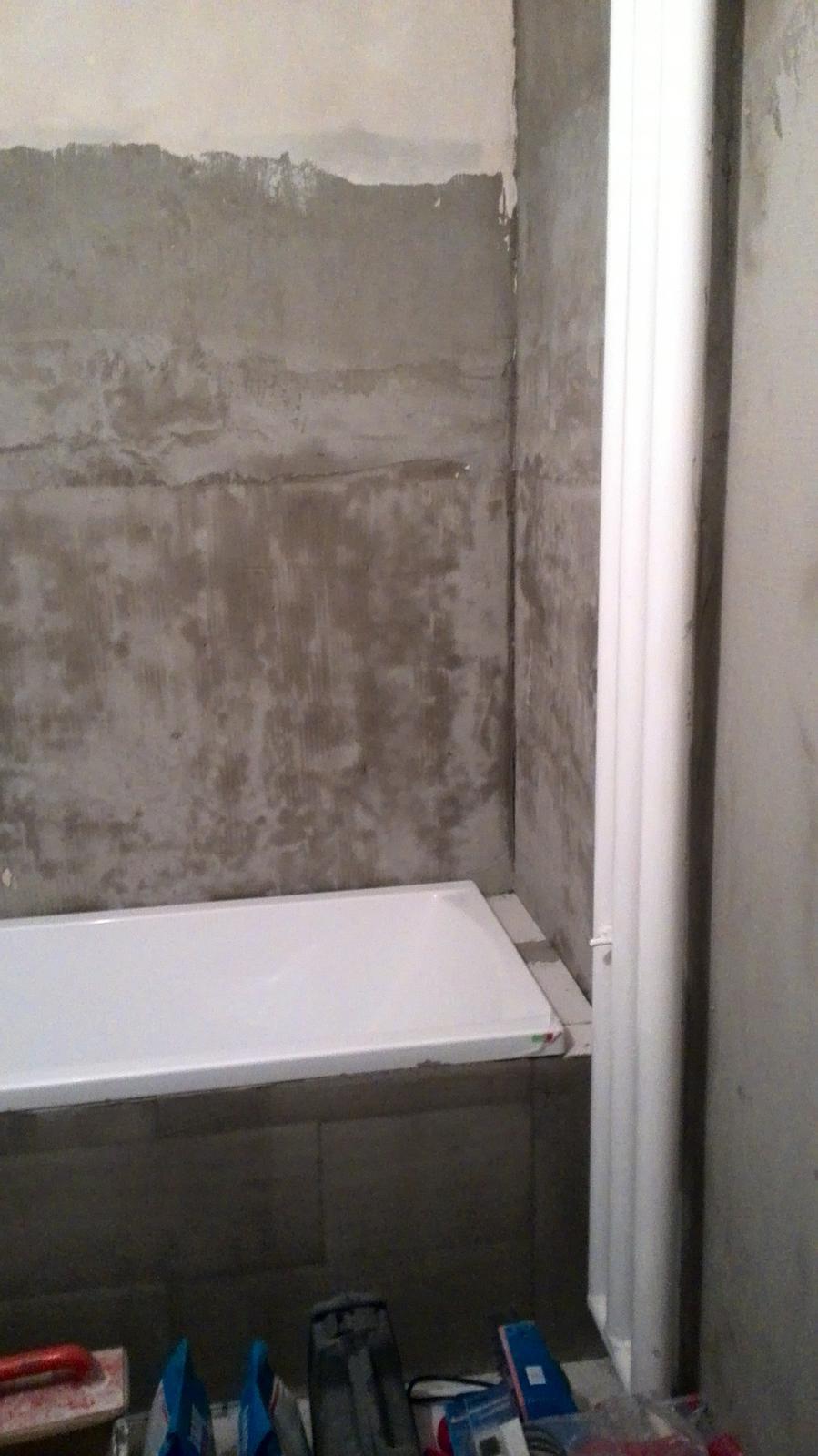 Rekonstrukce koupelny - naše nová vana :-) už se těším až bude hotovo a lehnu si do ní :-D