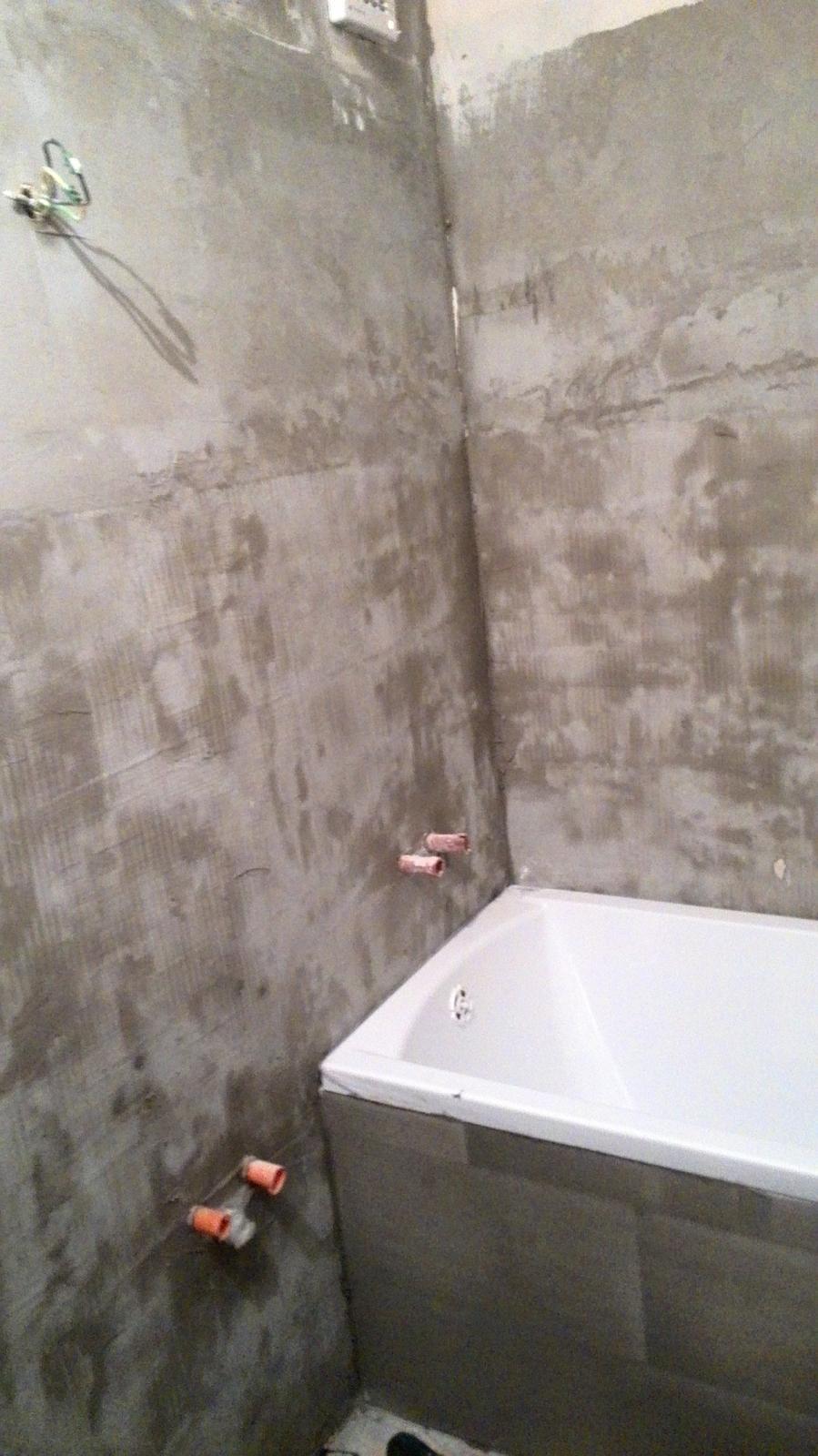 Rekonstrukce koupelny - Vedle vany bude umyvado :-)