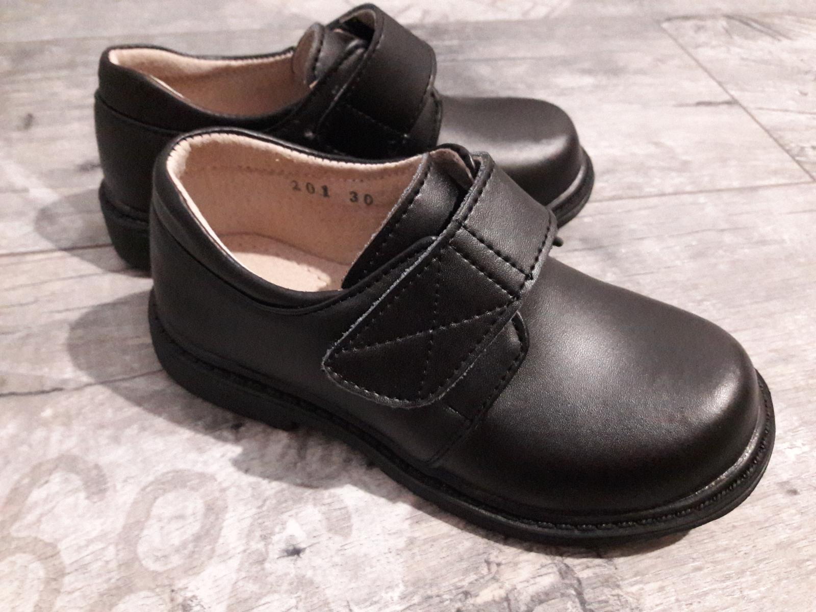 Chlapecká svatební, společenská obuv, NENOŠENÉ  - Obrázek č. 1