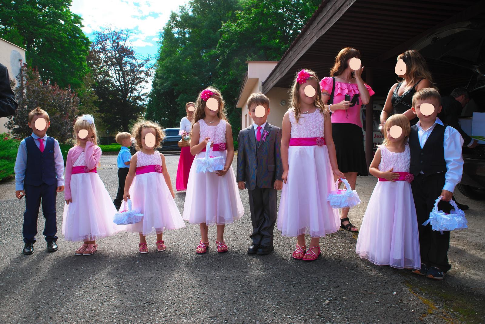 Slavnostní šaty pro družičky od 3 let do 7 let - Obrázek č. 1