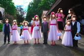 Slavnostní šaty pro družičky od 3 let do 7 let, 116