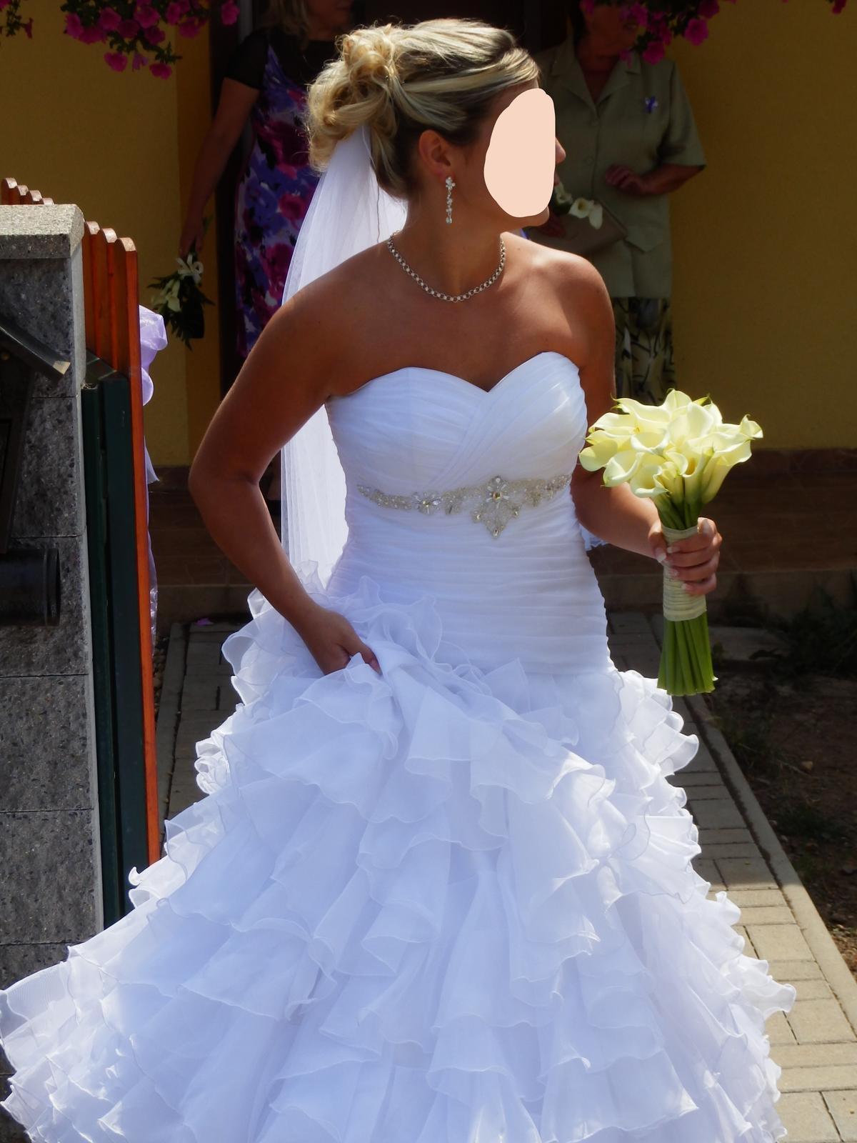 Svatební šaty šité na míru 36 - 38 - Obrázek č. 1