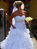 Svatební šaty šité na míru 36 - 38, 36