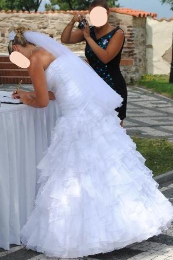 Svatební šaty šité na míru 36 - 38 - Obrázek č. 4