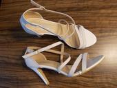 Stříbrné páskové boty pro nevěstu - 41, 41