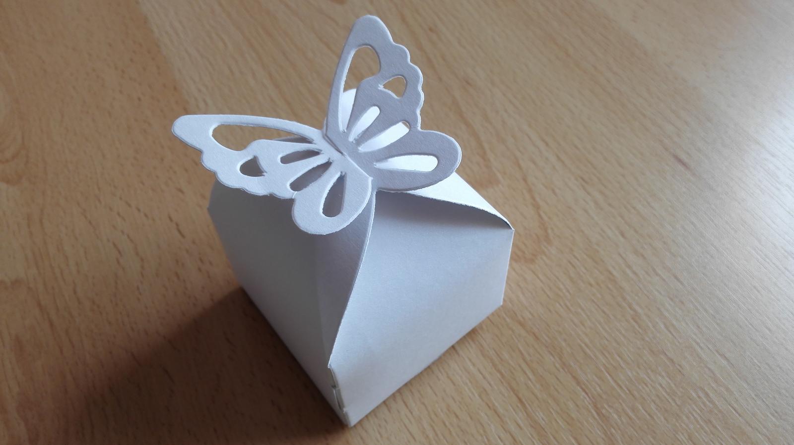 Krabicky na vysluzky - motyl - Obrázek č. 1
