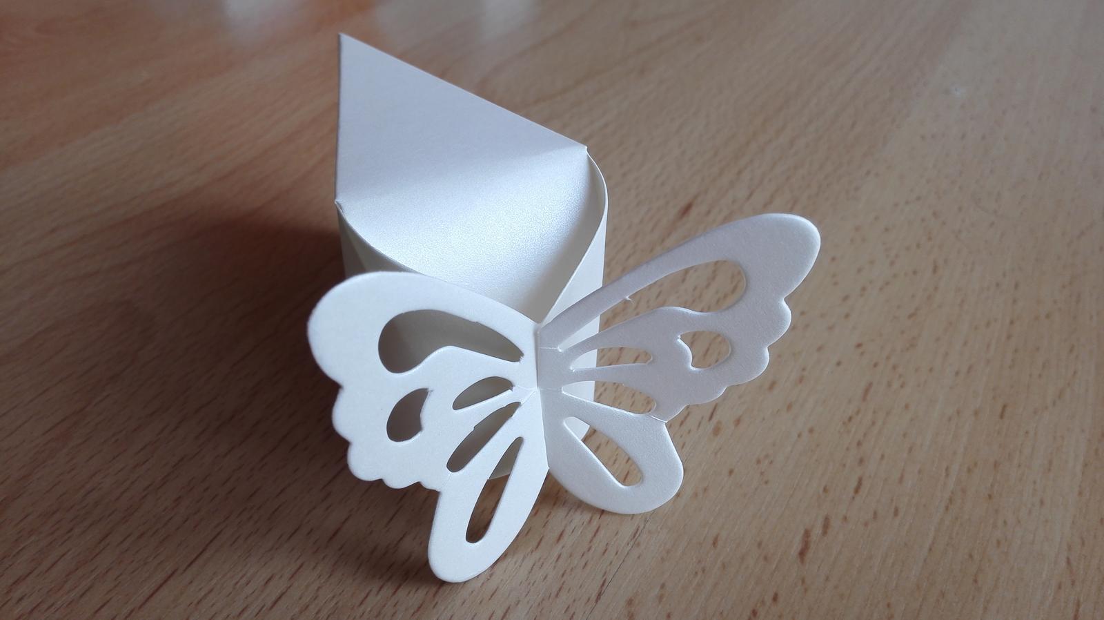 Krabicky na vysluzky - dort motyl - Obrázek č. 1