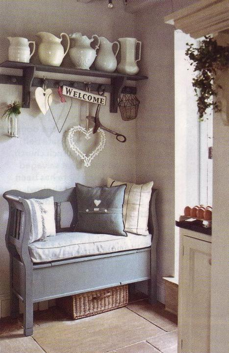Inspirace do domku - ...nebo treti moznost nejakou hezounkou lavici.