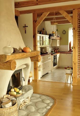 Inspirace do domku - Pred krbem chceme mit na podlaze kameny...
