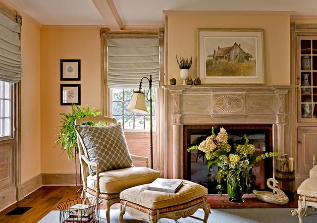 Inspirace do domku - Barva obyvaku bude: 2 zdi bile, 2 zdi takhle merunkove.