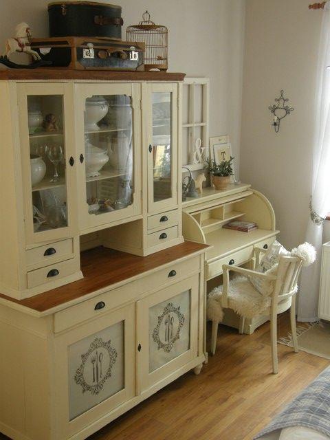 Inspirace do domku - Urcite do jidelny sezenu na bazaru a zrestauruju nejaky stary kredenc.