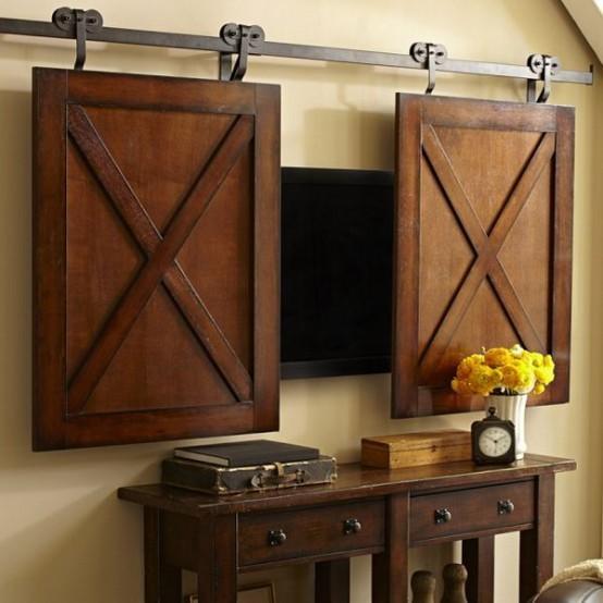 Inspirace do domku - ...nebo takovidle panely ze dreva na kolejich...