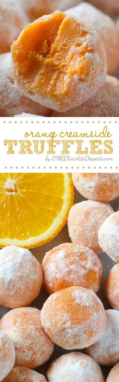 Americké koláčky - White Chocolate Orange Creamsicle Truffles