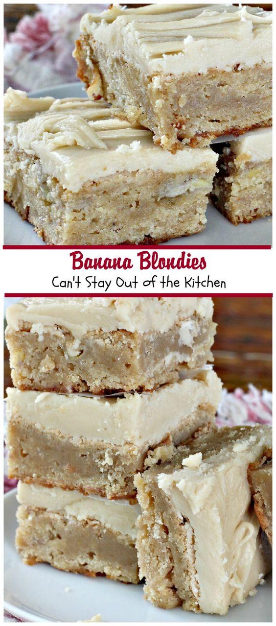 Americké koláčky - Banana Blondies