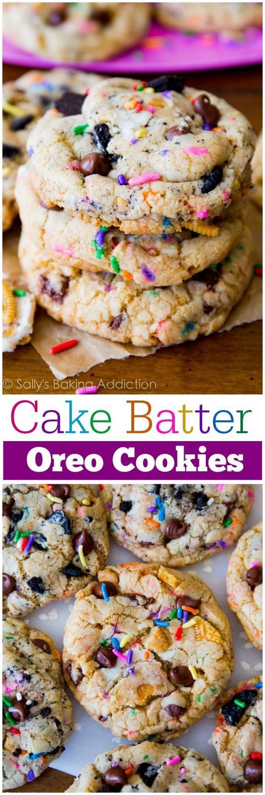 Americké koláčky - Cake Batter Oreo Cookies