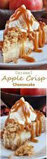Caramel Apple Crisp Cheesecake