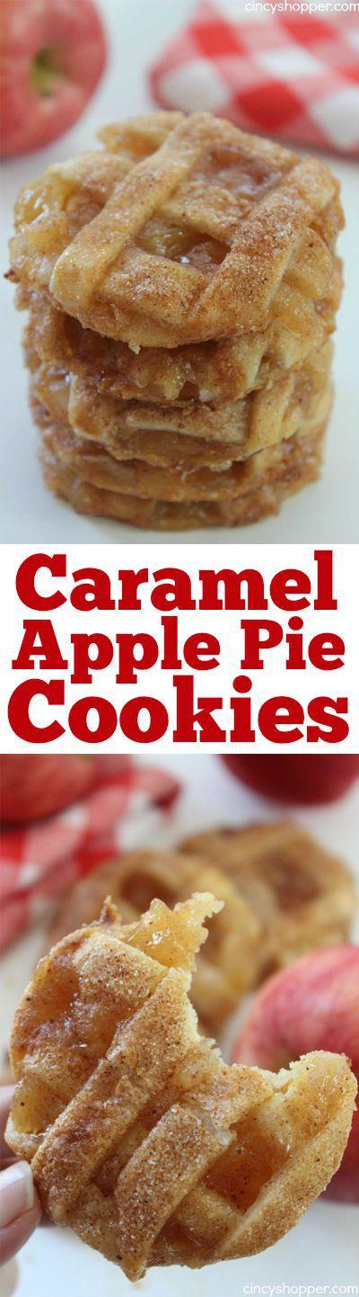 Americké koláčky - Caramel Apple Pie Cookies