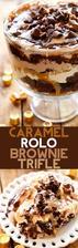 Caramel ROLO Brownie Trifle