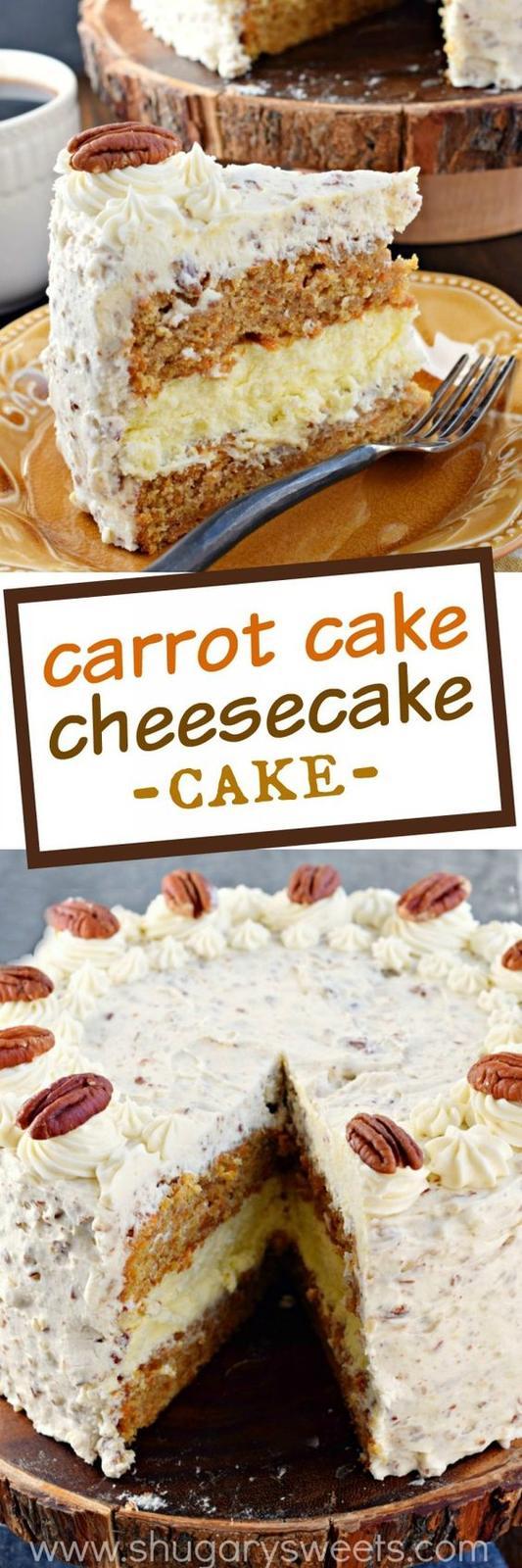 Americké koláčky - Carrot Cake Cheesecake Cake