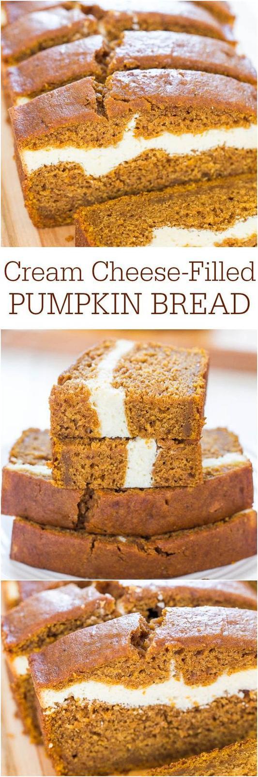 Americké koláčky - Cream Cheese-Filled Pumpkin Bread