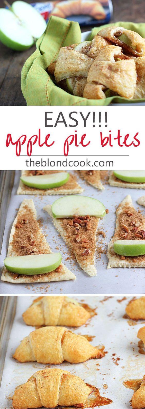 Americké koláčky - EASY Apple Pie Bites