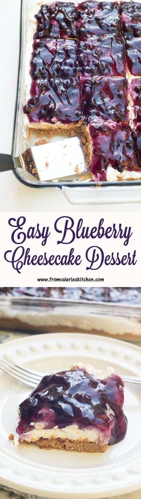 Americké koláčky - Easy Blueberry Cheesecake Dessert