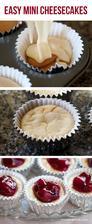 Easy mini cheesecakes