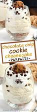 Chocolate Chip Cookie Cheesecake Parfait