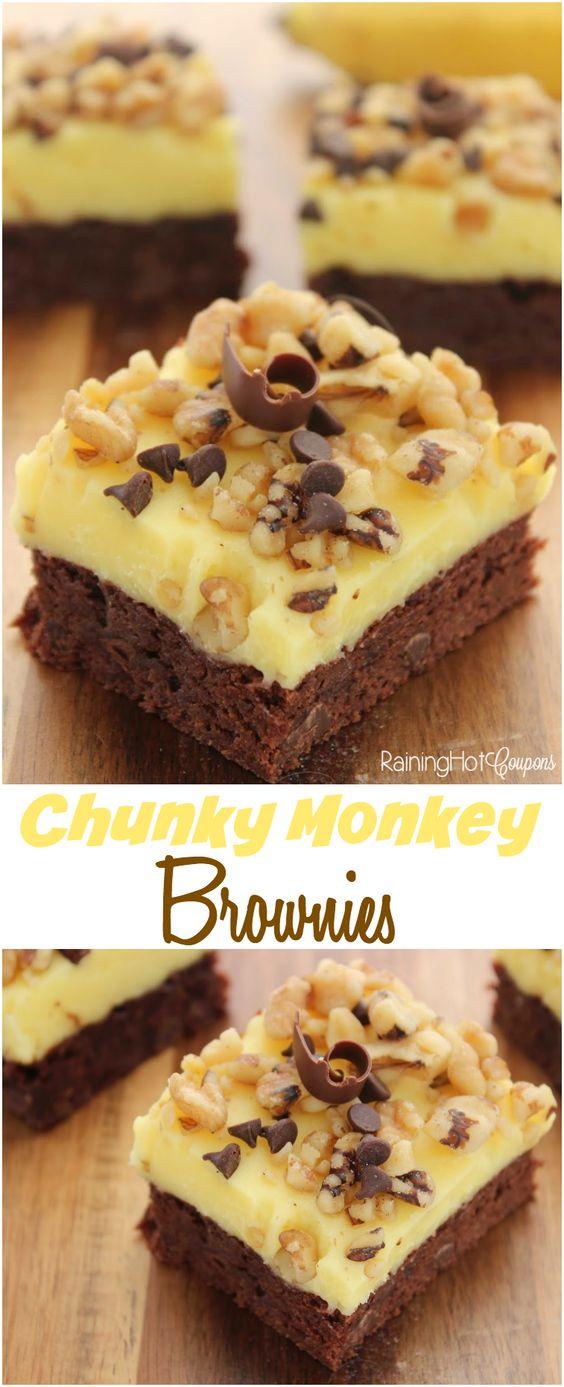 Americké koláčky - Chunky Monkey Brownies