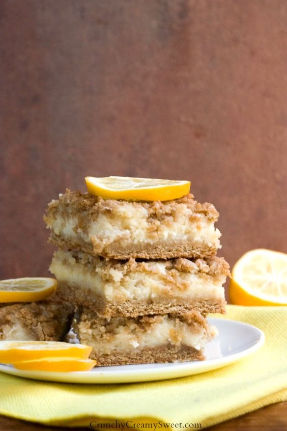 Americké koláčky - Creamy Lemon Crumb Bars