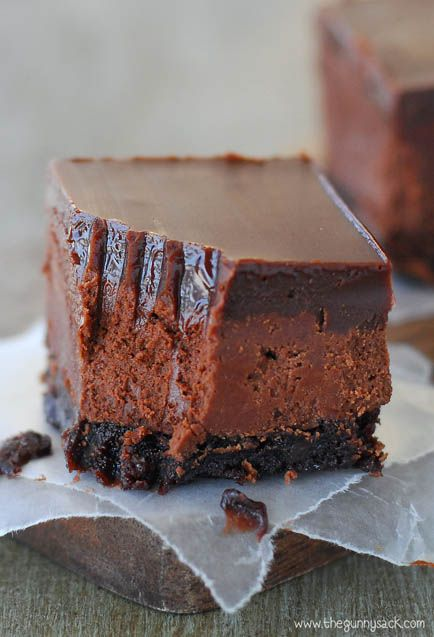Americké koláčky - Chocolate Truffle Fudge Bars
