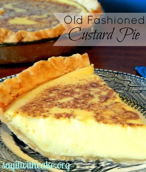 Americké koláčky - Old Fashioned Custard Pie