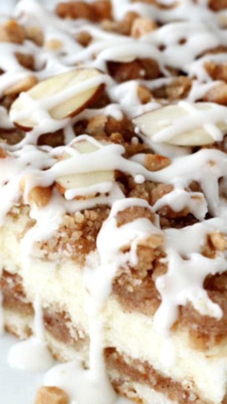 Americké koláčky - Toffee Almond Streusel Coffee Cake