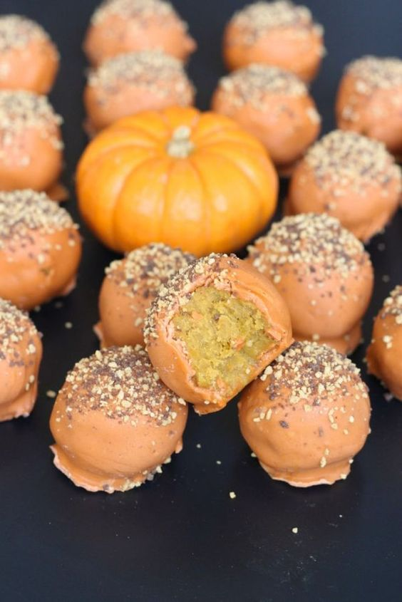 Americké koláčky - Pumpkin Spice Cake Balls
