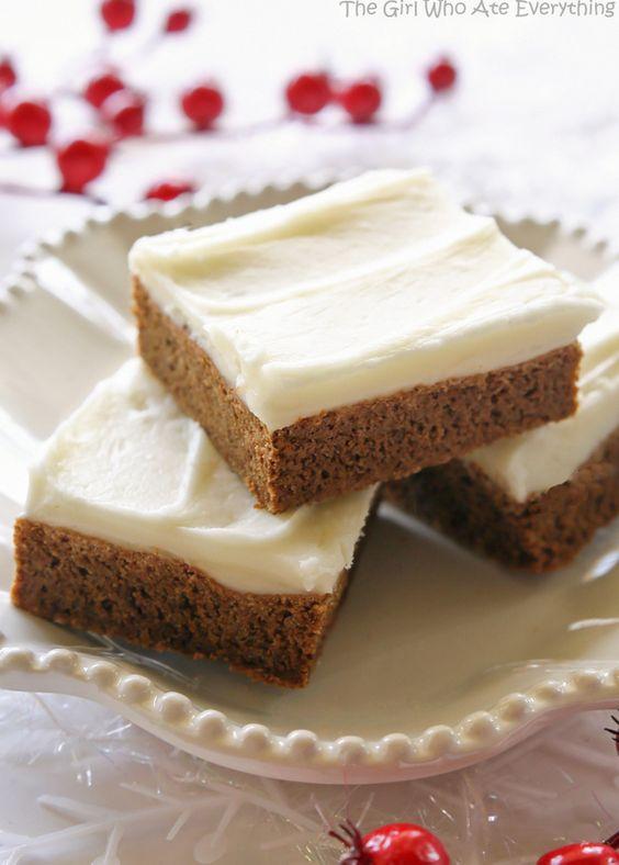 Americké koláčky - Gingerbread Cookie Bars
