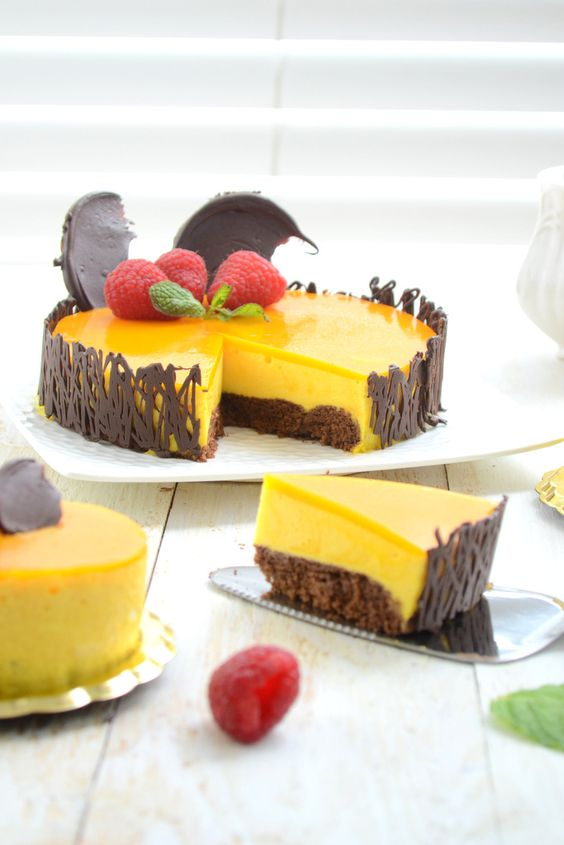 Americké koláčky - Pastel de mousse de Mango