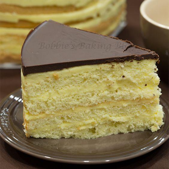 Americké koláčky - Boston cream pie