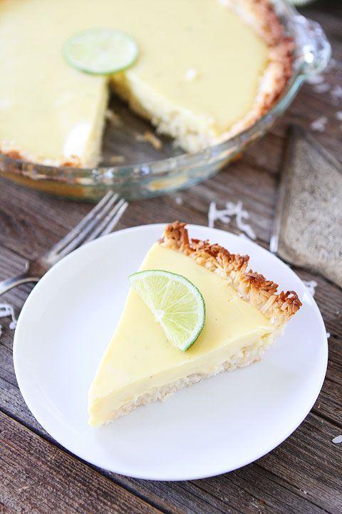 Americké koláčky - Key Lime Pie with Coconut Macaroon Crust