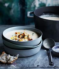 Jablokovo paštrnáková pečená polévka