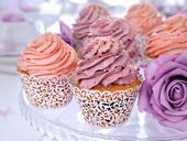 Svatební krajkové košíčky na muffiny,