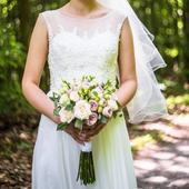 Ľahké svadobné šaty pre divožienku, 36