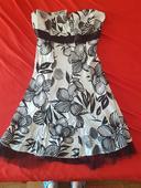 Bílo - černé šaty, 36