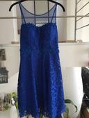 Spoločenské šaty modre,