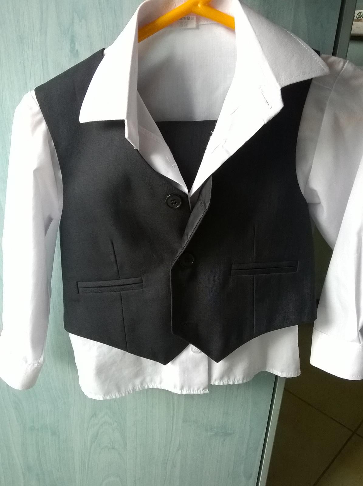 Chlapecká bílá košile 86 s oblekem - Obrázek č. 1