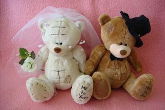 medvídci na auto nevěsty a ženicha:-)
